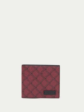 Portefeuille Monogram en cuir avec porte monnaie
