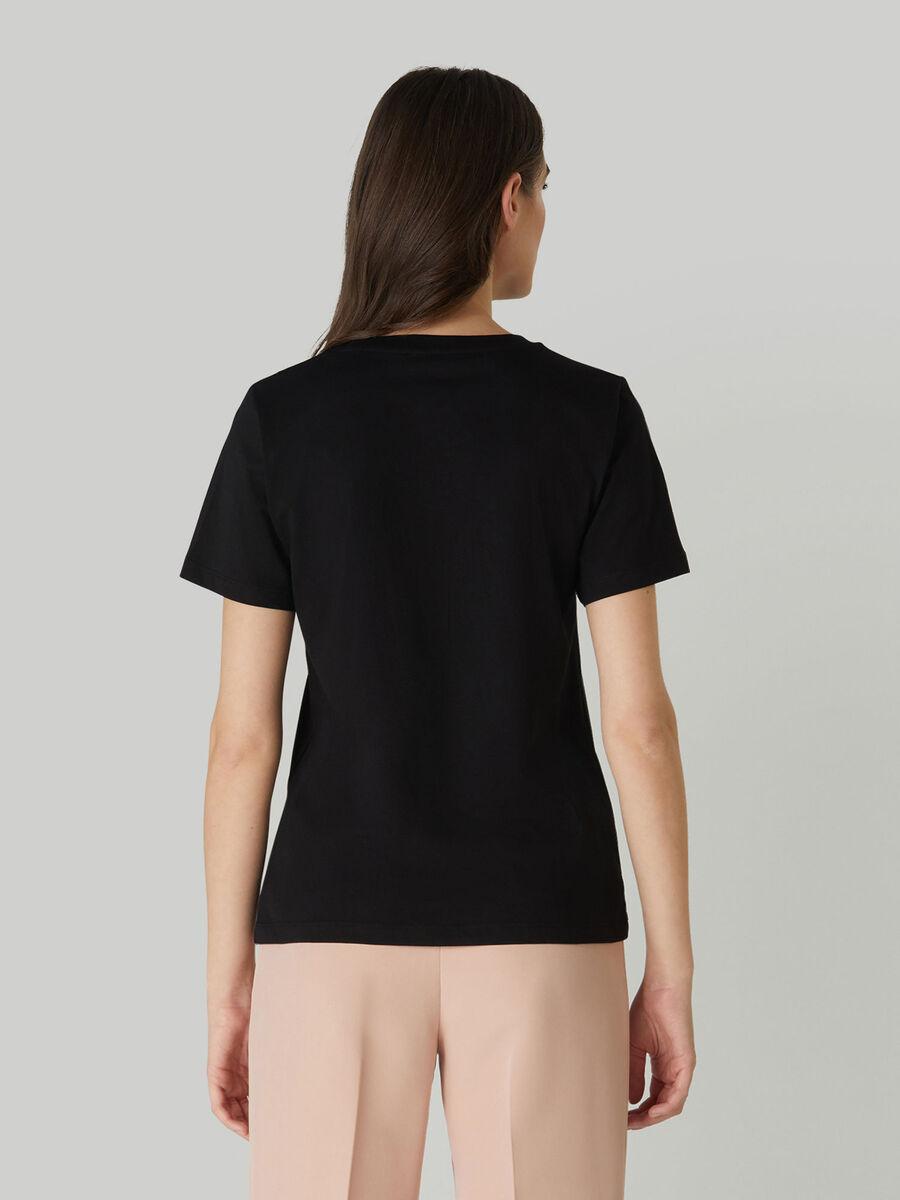 T-shirt coupe classique en jersey de coton imprime