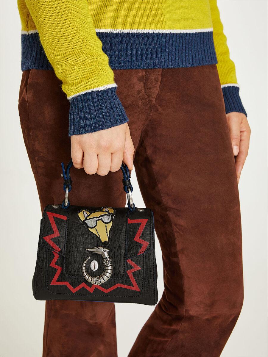 Mini borsa Lovy con emoticon
