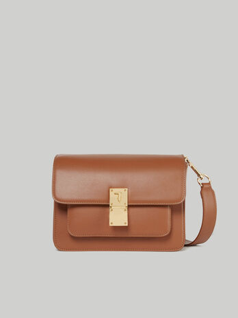 Medium faux leather Lione crossbody bag