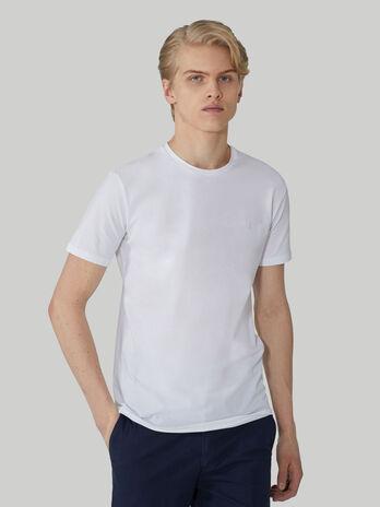 Slim-fit stretch cotton T-shirt