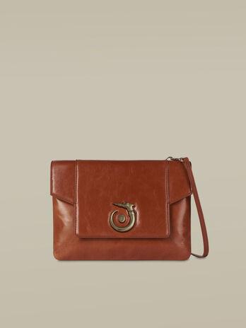 Medium leather Lovy clutch