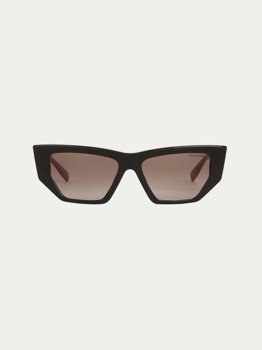 Sonnenbrille mit mehrfarbigen Buegeln