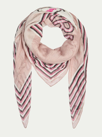 Modal and silk pashmina with levriero print