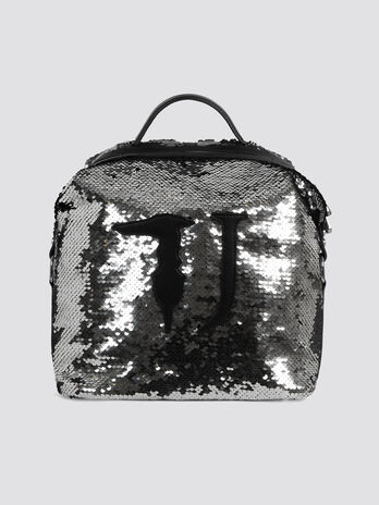 Medium sequinned T-Wow Night backpack with maxi logo