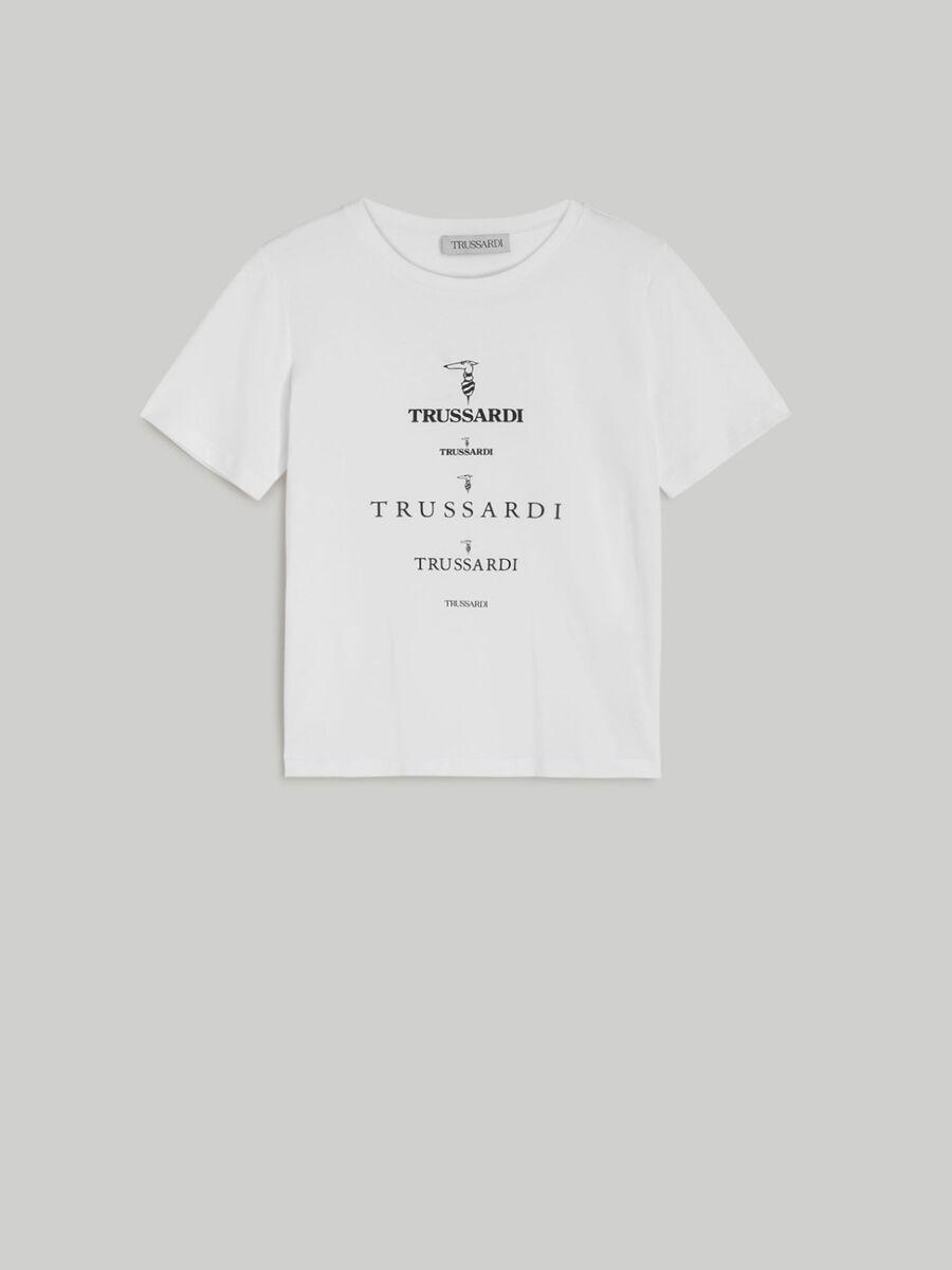 T-shirt in cotone ecologico con loghi