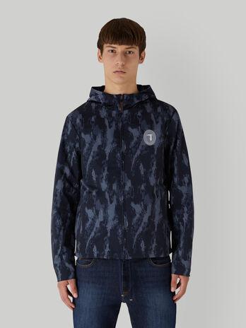 Camouflage technical satin jacket