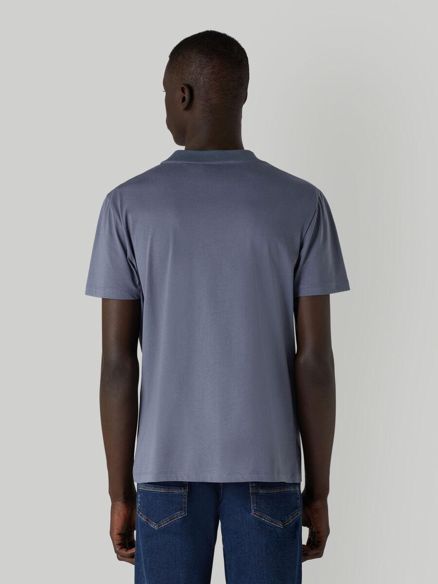 T-shirt en jersey de coton a lettering