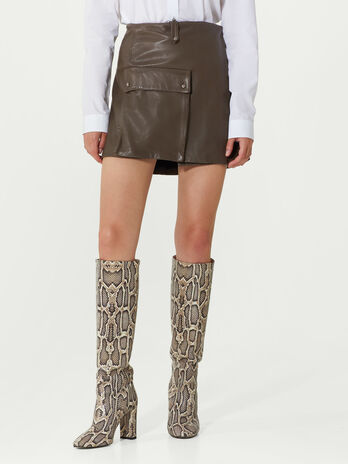 Plonge leather miniskirt