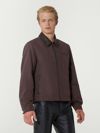 Regular fit cotton canvas jacket