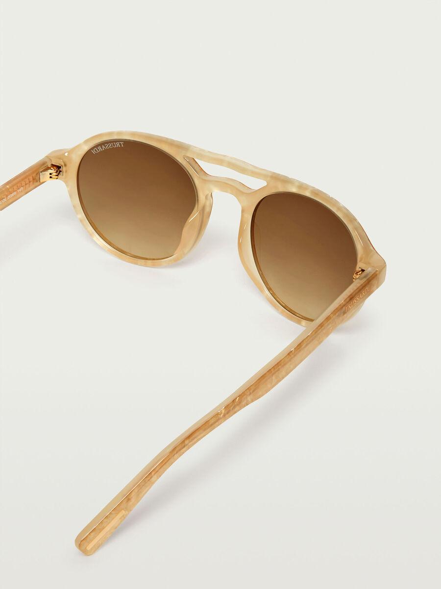 Glossy frame aviator sunglasses