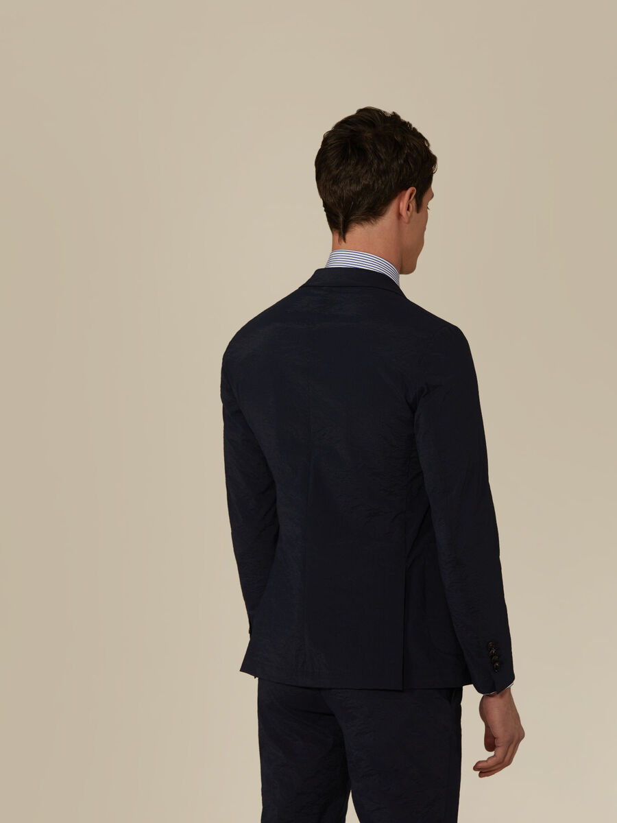 Technical fabric blazer