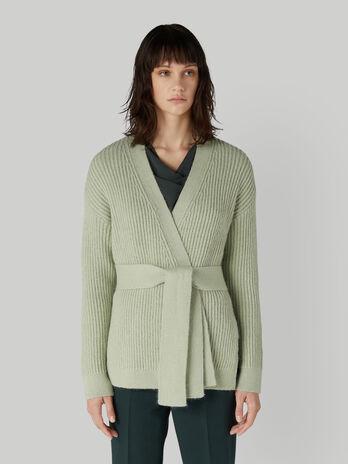 Cardigan regular fit in maglia a coste