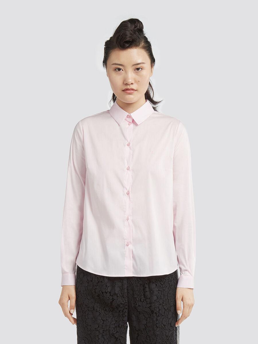 Regular fit stretch poplin shirt