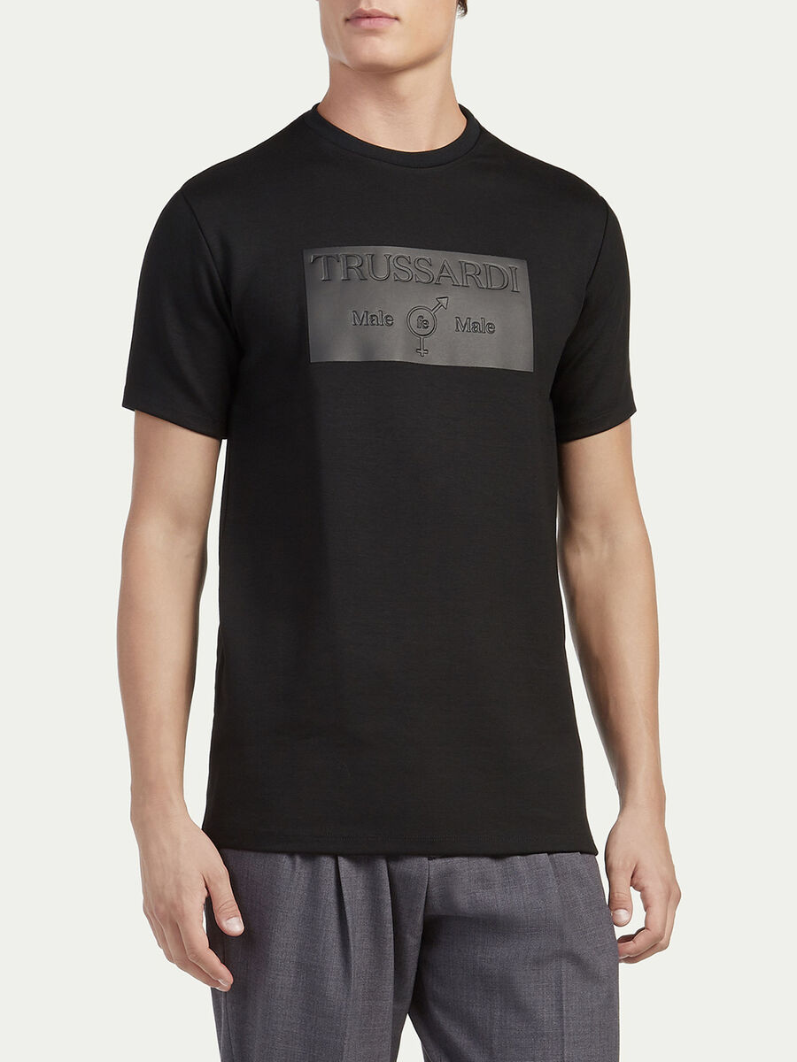 T shirt regular fit i jersey con stampa