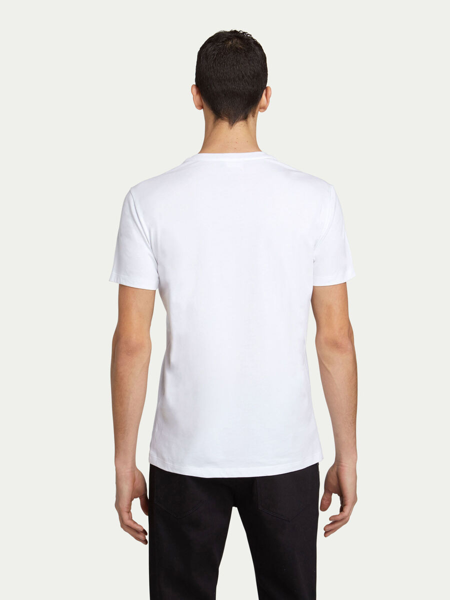 T shirt regular fit in jersey di cotone con lettering