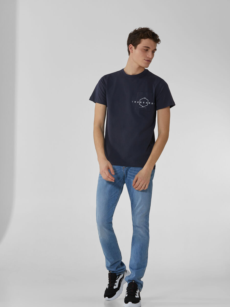 Regular-fit cotton T-shirt with logo