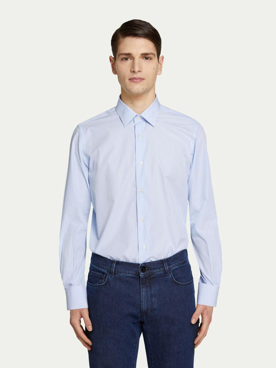 Hemd aus Baumwolle mit Mini Streifenmuster