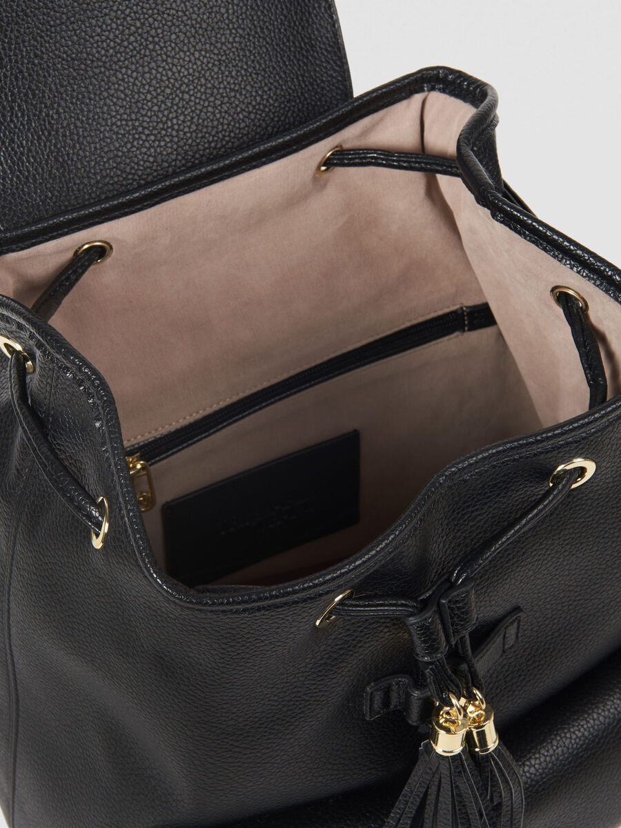 Faux leather Faith backpack with logo