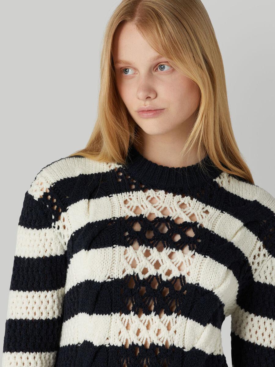 Pullover regular fit in mista lana tricot