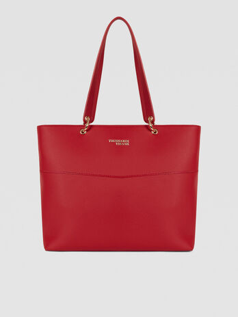 Shopping bag Charlotte large in similpelle testurizzata