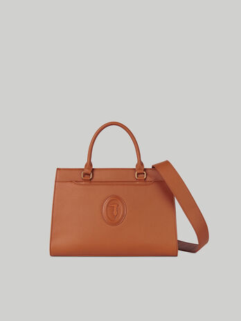 Handle bag Dahlia medium in similpelle saffiano
