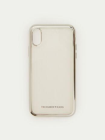 Coque iPhone X souple a bordure brillante