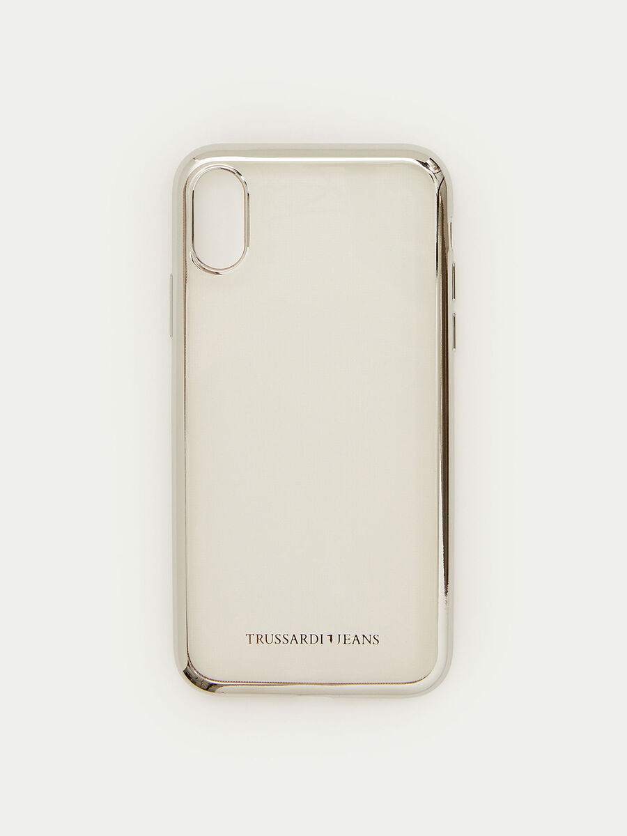 Soft iPhone X case with shiny trim