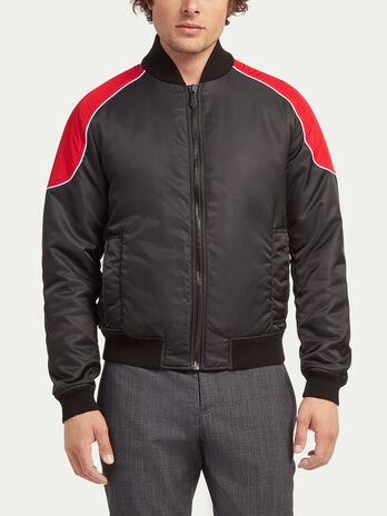 Regular fit flight style twill bomber jacket