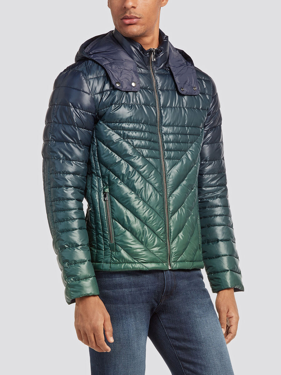 Regular Fit Nylon Daunenjacke mit Degrade Optik