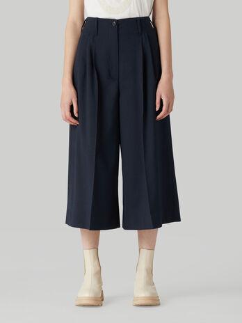 Pantalon cropped de lana tecnica