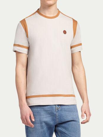 T shirt a bordures, inserts et logo