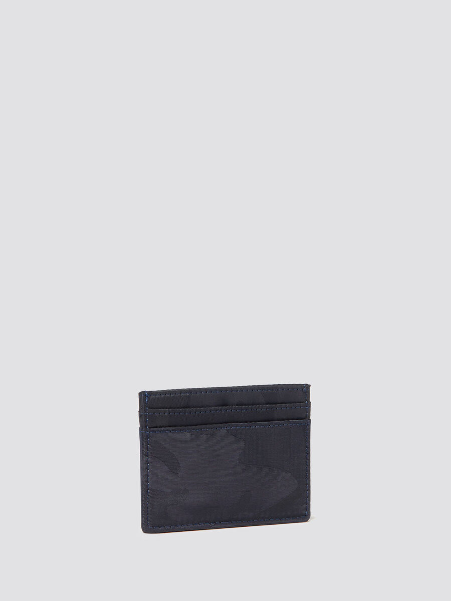 Ticinese card holder in camouflage nylon