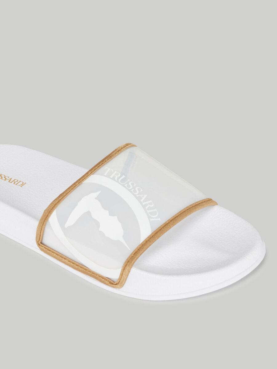 Slide in gomma con fascia logata