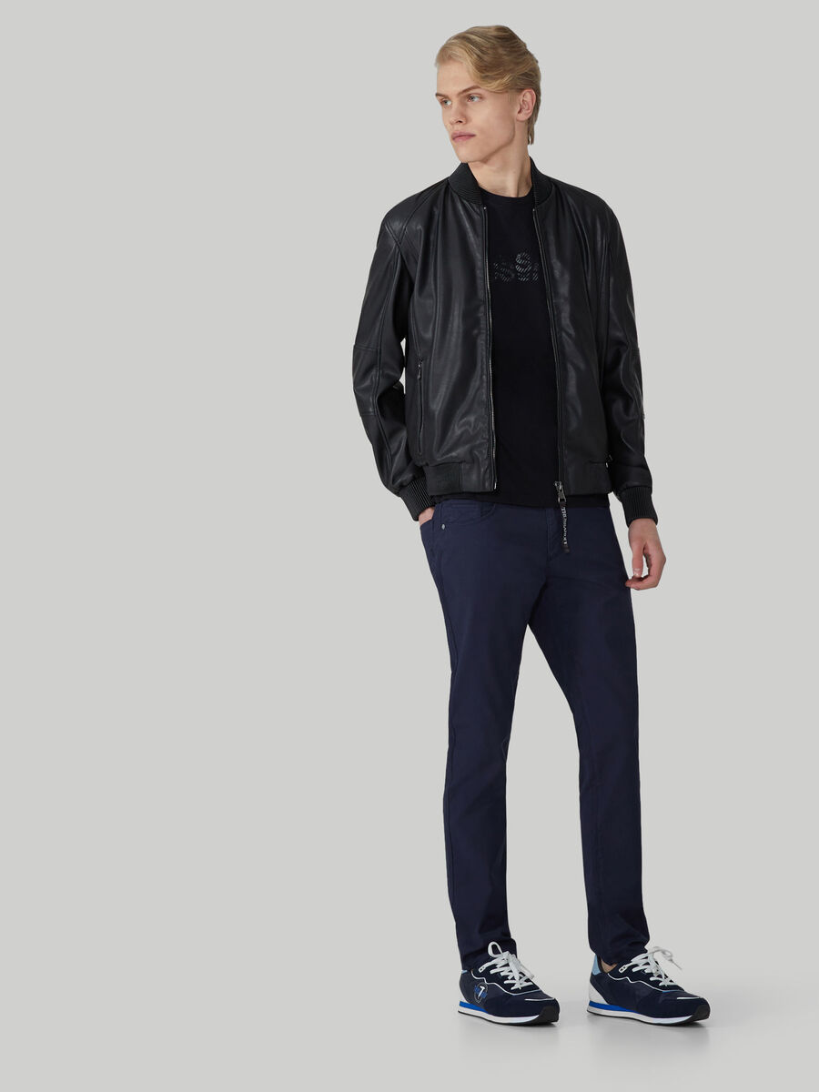 Giacca bomber in similpelle soft