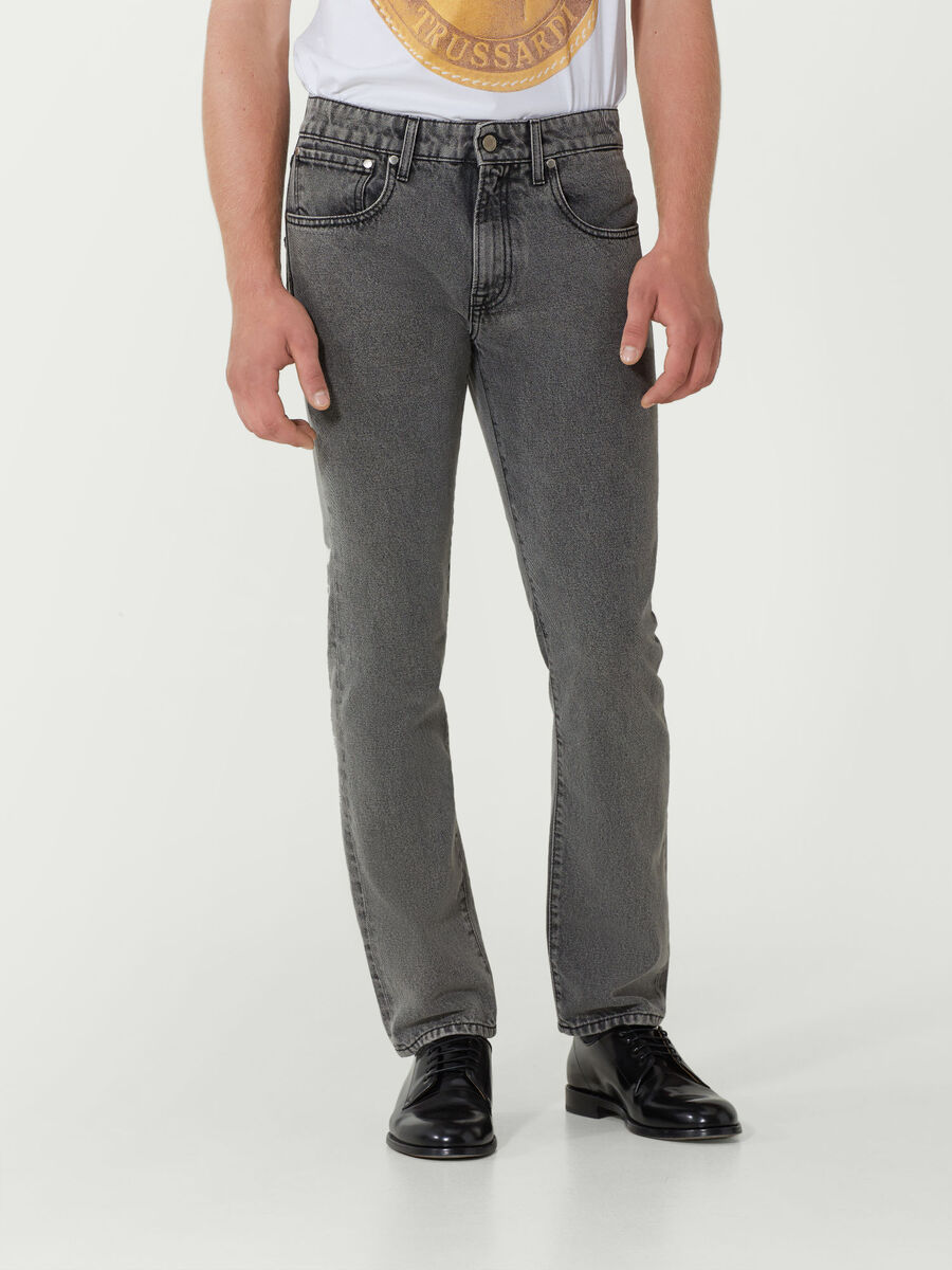 Jeans im Regular Fit aus Denim
