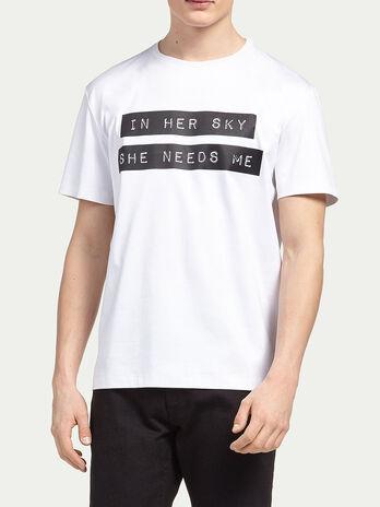 T Shirt aus Interlock in reiner Baumwolle mit Lettering
