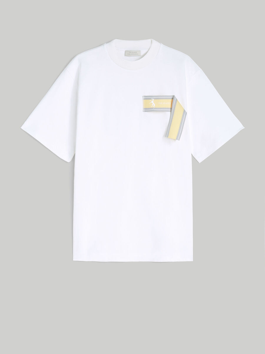 T-shirt extra over fit in jersey di cotone