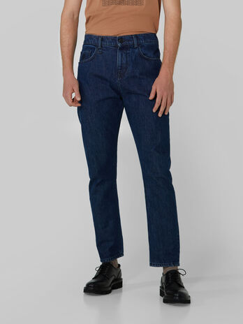 Relaxed Jeans aus Firm Denim