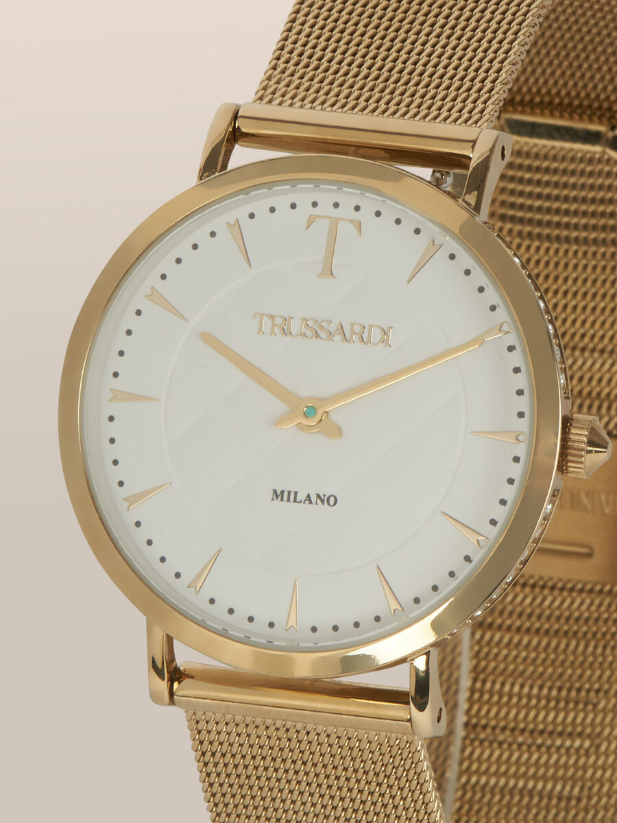 33 MM T-Motif watch with mesh strap