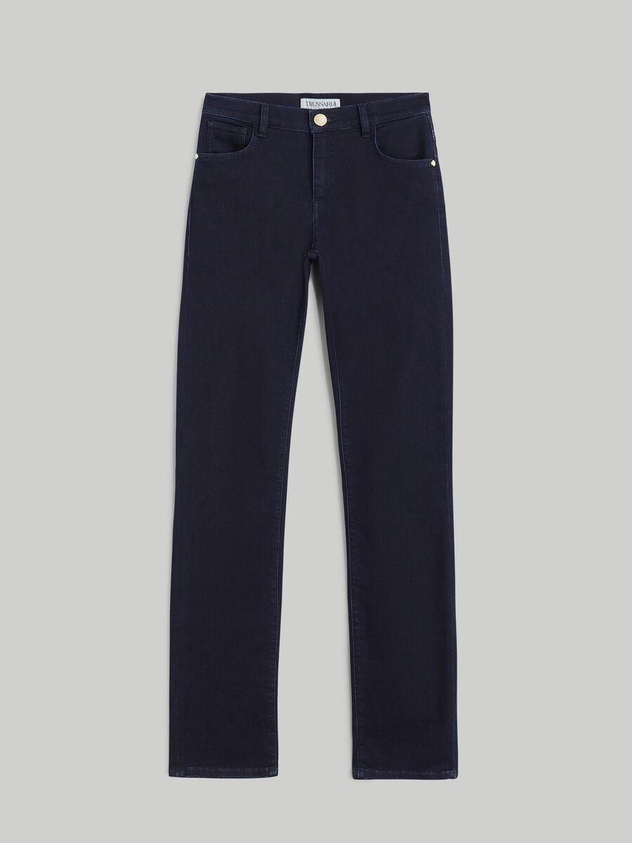 Jean 130 Classic en denim satin