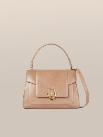 Top handle New Lovy regular in pelle athene