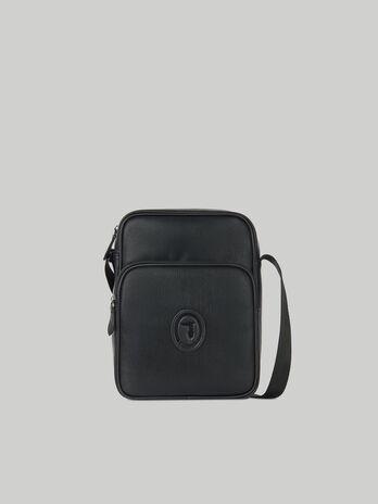 Urban reporter bag in faux saffiano leather