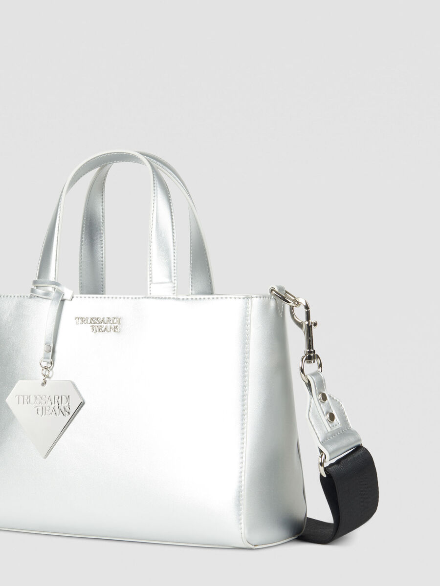 Medium T-Easy Diamond tote bag in faux leather