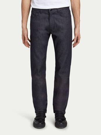 Jeans regular fit in denim tinta unita