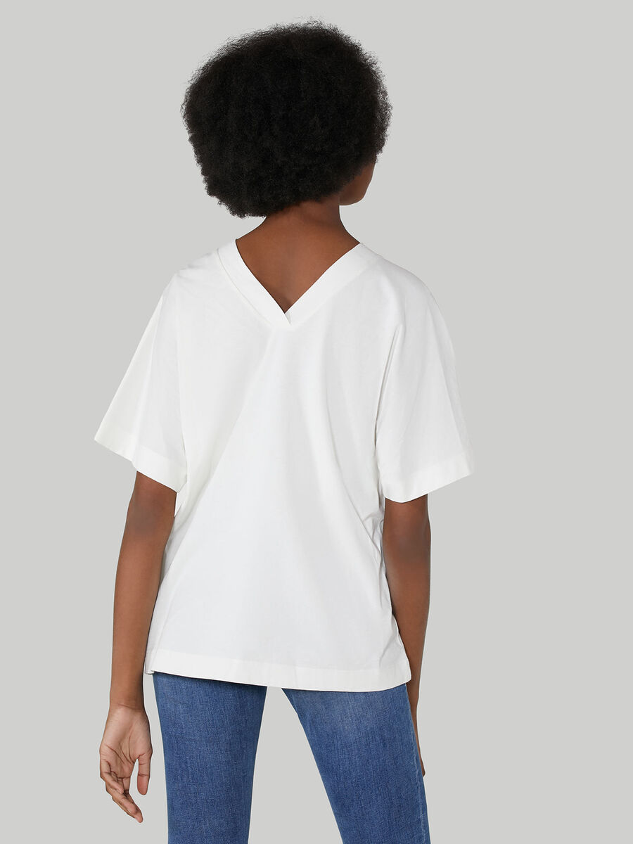 T-shirt boy fit in jersey di cotone