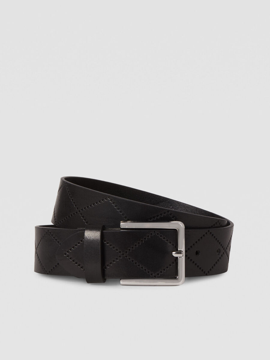Quilted leather T-Easy belt