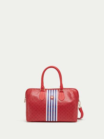 Striped Monogram crespo leather handbag