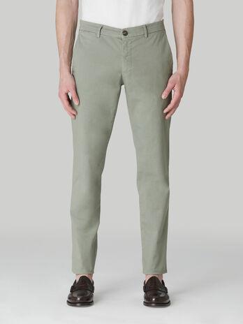 Pantalon coupe aviateur en legere gabardine de coton