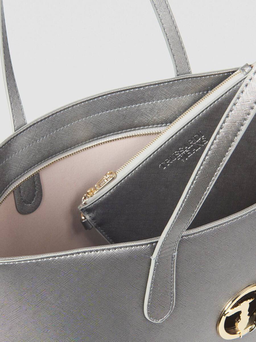 Shopping Bag Sophie large in saffiano con logo